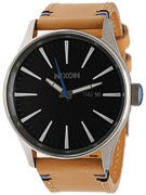 Nixon The Sentry Leather Watch  Natural/Black