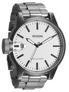Nixon The Chronicle SS Watch  Sanded Steel/White