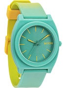 Nixon The Time Teller P Watch  Yellow/Teal Fade
