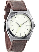 Nixon The Time Teller Watch  Gunmetal/Brown
