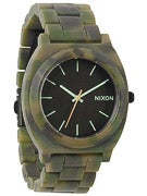 Nixon The Time Teller Acetate Watch  Matte Black/Camo