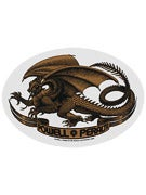 Powell Peralta Oval Dragon Sticker  Gold