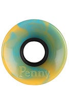 Penny Supersmooth 78A Swirl Cyan/Orange Wheels