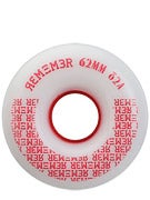 Remember Peewee 82a White/Red Slide Wheels