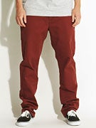 RVCA All Time Chino Pants Red Earth