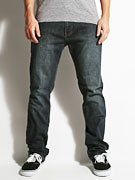 RVCA Daggers Extra Stretch Denim Jeans  Dark Vintage