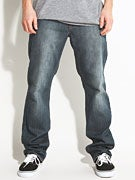 RVCA Regulars Extra Stretch Denim Jeans  Faded Blue