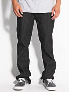 RVCA Regulars Denim Jeans  Raw Black
