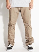 RVCA The Week-End Chino Pants  Dark Khaki