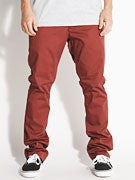 RVCA The Week-End Chino Pants  Red Earth