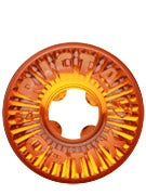 Ricta Optix Clear Orange Wheels