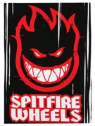 Spitfire Fireball Ramp Sticker HUGE BLACK/RED