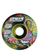 Spitfire Salba OG Flash 50/50 Black/Yellow Wheels