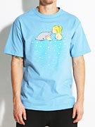 Skate Mental Girl Kissing Dolphin T-Shirt