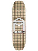 Sk8 Mafia House Logo Plaid Khaki Deck 8.25 x 32.12