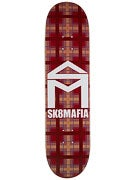 Sk8 Mafia House Logo Plaid Red Deck 8.0 x 32