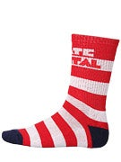 Skate Mental Stripe Socks White/Red