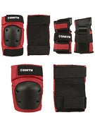 Smith Scabs Youth Protective Set 3 Pack Red/Black