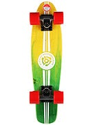 Stereo Wooden Vinyl Cruiser Complete  Yellow/Green