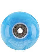 Sunset Flare Swirl Light Blue/White LED Wheels  59mm