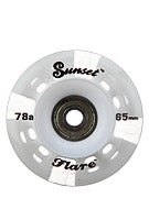 Sunset Flare White LED Round Wheels  65mm