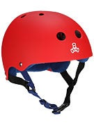 Triple 8 Brainsaver Helmet  United Red Rubber