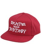 Thrasher Skate and Destroy Snapback Hat