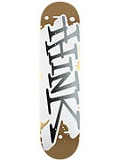 Think Spray Tag Gold/White Deck  7.875 x 31.875