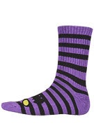Toy Machine Monster Stripe Crew Socks Purple/Blk