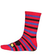 Toy Machine Monster Stripe Crew Socks Red/Blue