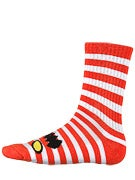 Toy Machine Monster Stripe Crew Socks Red/White
