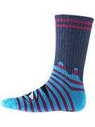 Toy Machine Sect Eye Stripe Crew Socks Teal/Purpl