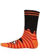 Toy Machine Sect Eye Stripe Crew Socks Orange/Red