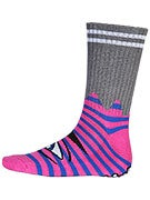 Toy Machine Sect Eye Stripe Crew Socks Pink/Blue