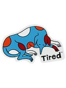 Tired Dog Sticker