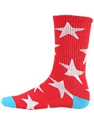 Tired Stars Socks Red