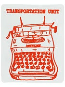 Transportation Unit Typewriter Sticker