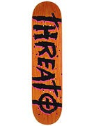 Threat by Zero Street Trash Orange Deck 7.625 x 31.25