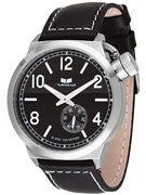 Vestal Canteen Watch  Black/Brushed SIlver/Black