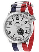 Vestal Canteen Zulu Watch  Red-White-Blue/Silver/White