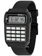Vestal Data Mat Watch  Black/Black/Black
