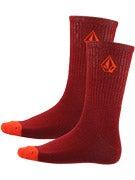 Volcom Full Stone Socks Crimson/CMS