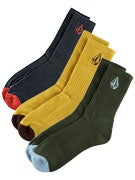 Volcom Solid 3 Pack Socks