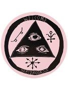 Welcome Talisman Logo Sticker  Black/Pink