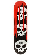 Zero 3 Skulls w/Blood Black Deck 7.875 x 31.75