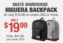 Skate Warehouse Backpack Promo