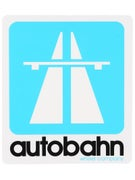 Autobahn Road Sign Sticker  Blue