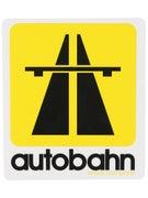 Autobahn Road Sign Sticker  Yellow