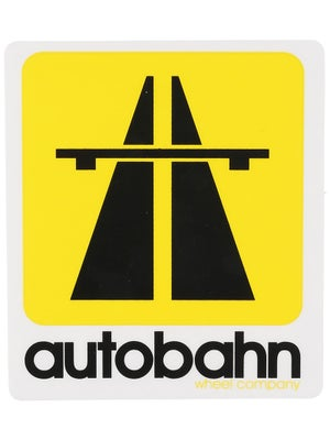 Autobahn Road Sign Sticker  Yellow