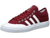Adidas Matchcourt Canvas Shoes Burgundy/White/Gum